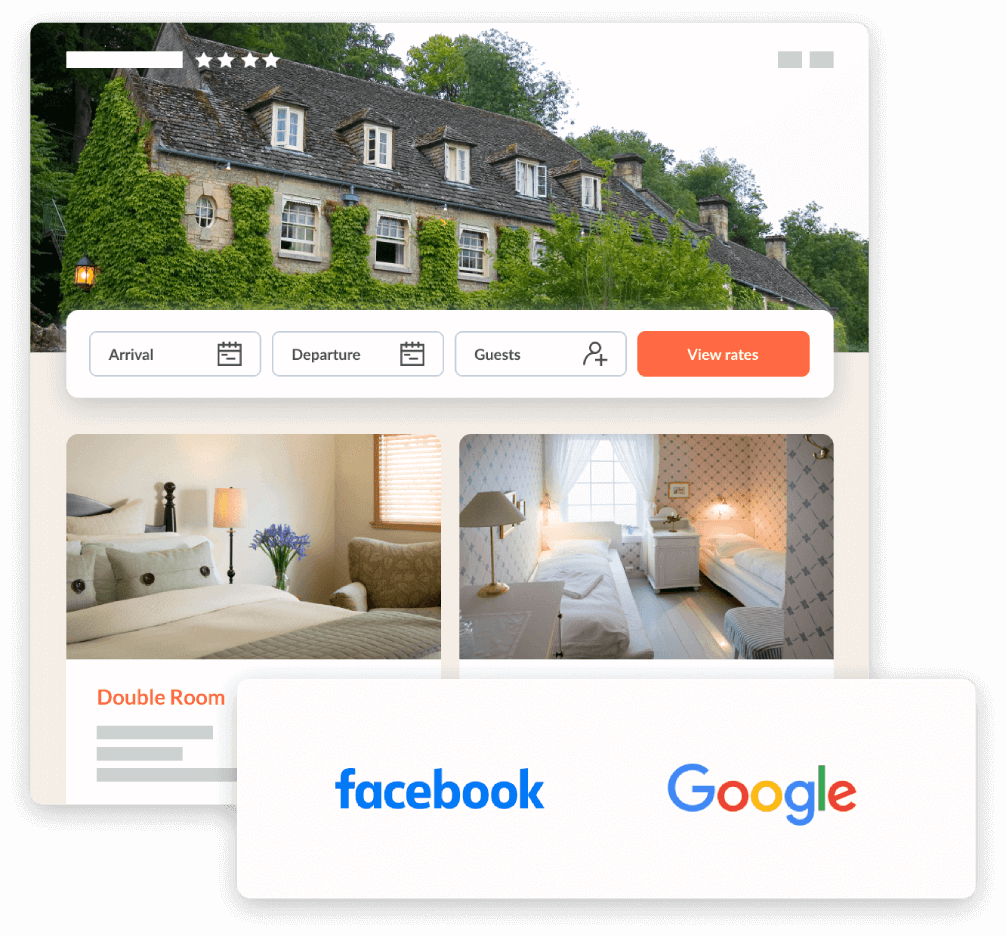 Hotel booking engine on your website