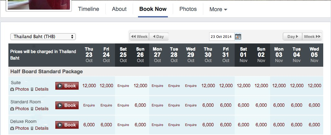 facebook hotel booking engine